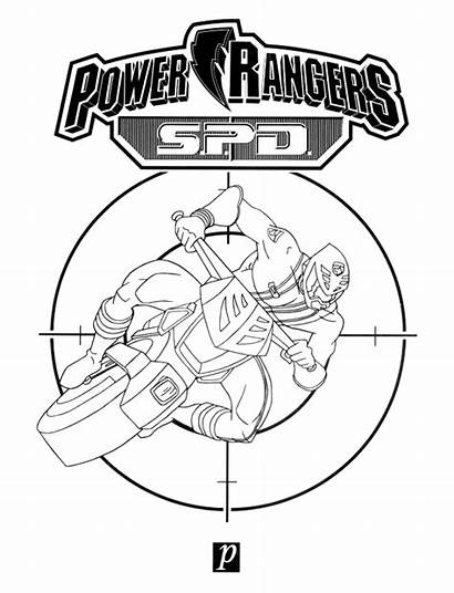 Rangers Power Coloring Pages Ranger Animated Spd