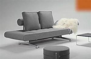 Canapé Lit Gris : canape lit design ghia gris convertible innovation 90 210cm ~ Teatrodelosmanantiales.com Idées de Décoration