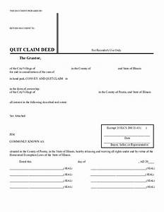 quit claim deed template illinois free download With quit claim deed template free download