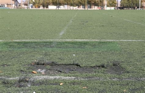 worn soccer fields  artificial surfaces closed