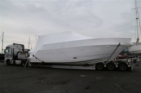 Boat Transport To Spain by Fairline Squadron 42 Wrapped And Loaded To Transport