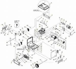 Generac 0059310  Xp8000e  Parts Diagram For Full Assembly