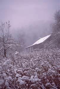 North Carolina Mountains Cabin Snow