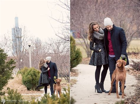 Maggie + Bart   Winter Engagement Session