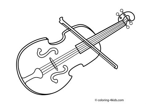 musical instruments coloring pages violin  coloring pages
