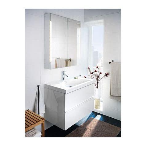 Illuminated Bathroom Mirror Cabinets Ikea by Storjorm Mirror Cabinet W 2 Doors Light White