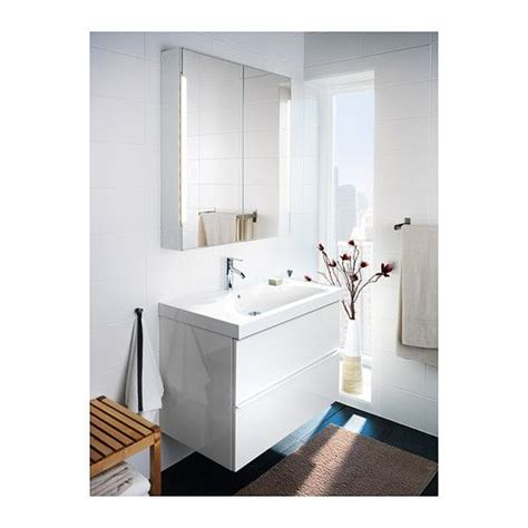 ikea bathroom mirror cabinet with light godmorgon edeboviken sink cabinet with 2 drawers high