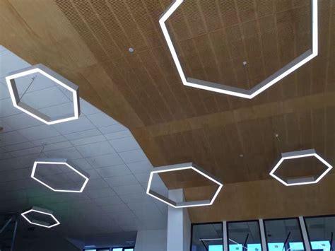 contemporary modern chandelier lighting lab hexagonal linear led pendant light eqlight