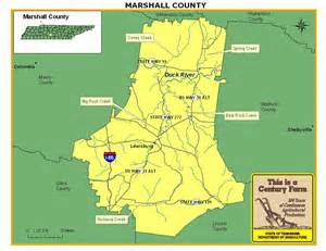 Marshall County Tennessee Map