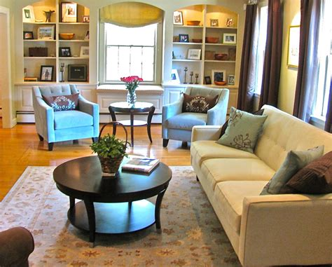 Round Coffee Tables Living Room Contemporary With Area Rug