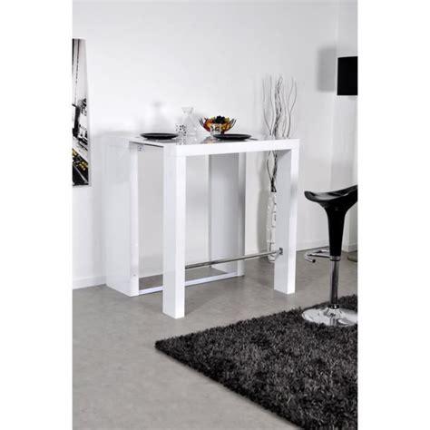 console extensible blanc laque pas cher bar console table haute extensible 2 rallonges venise laqu 233 blanc achat vente table salle a