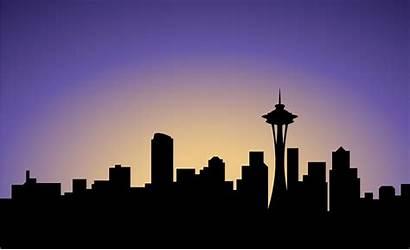 Seattle Silhouette Skyline Vector Usa Illustrations Clip