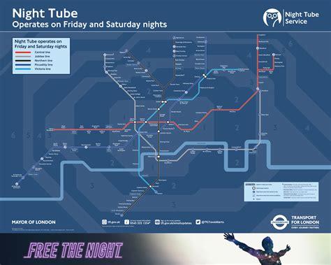 night tube transport  london