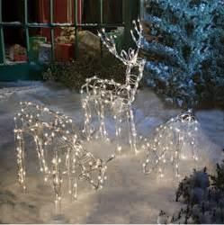 animated lighted reindeer family set 3 christmas yard