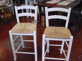 Kitchen Island Seats 6 Pair Of Seat Bar Stools In Lightly Distressed Cottage White Just Tables