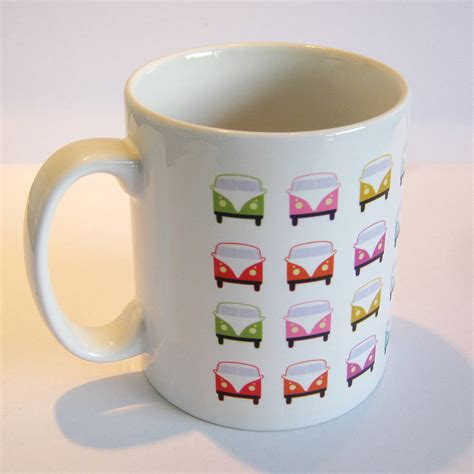 colourful retro cervan mug by name