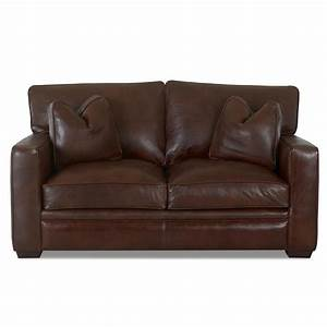 klaussner homestead leather loveseat sheely39s furniture With homestead furniture and appliances