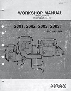 Volvo Penta 2001  2002  2003  2003t Engine Unit Workshop