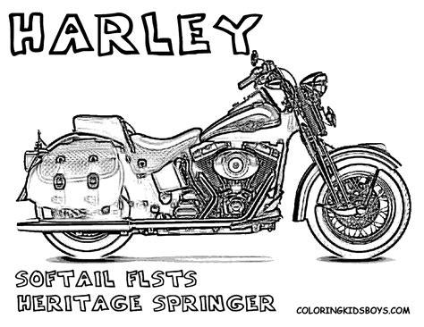 Kleurplaat Harley Davidson by Harley Coloring Harley Davidson Free Motorcycles