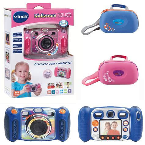vtech kidizoom duo digital cameras in blue and pink or vtech cases ebay