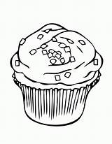 Coloring Muffin Cupcake Pages Printable Popular sketch template