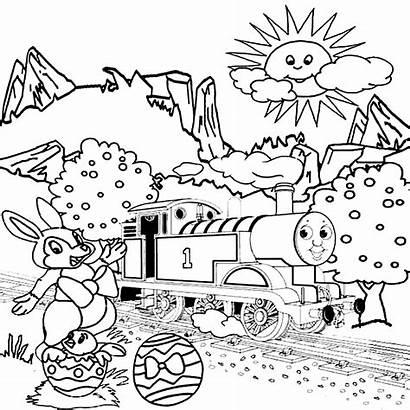 Thomas Gambar Printable Mewarnai Kartun Anak Easter