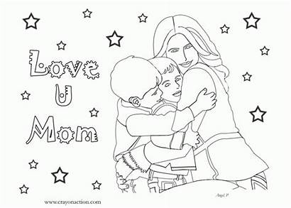 Coloring Pages Mom Mothers Birthday Mother Clipart