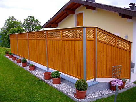 Minihäuser Aus Holz by Z 228 Une Sichtschutz Hiag Balkonbau