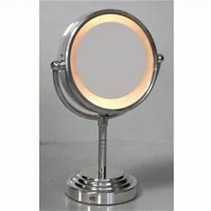 Miroir Lumineux Maquillage : maison futee miroir grossissant lumineux 15cm x 15cm pas cher achat vente miroirs ~ Teatrodelosmanantiales.com Idées de Décoration