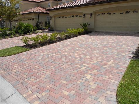 driveway paver patterns 4x8 crimson rose brick paver driveway installed in a 90 degree herringbone pattern by desrosiers