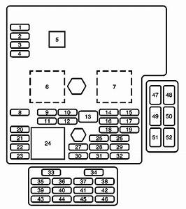 Cadillac Xlr  2004 - 2005  - Fuse Box Diagram