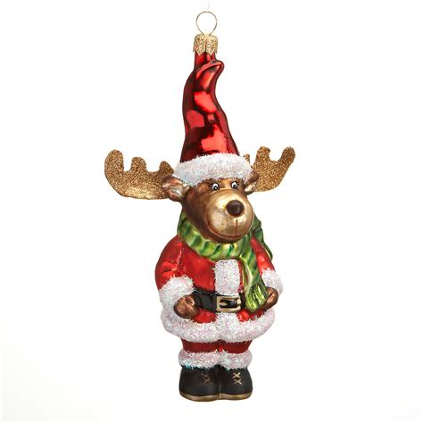 Santa Moose Christmas Ornament Gump's