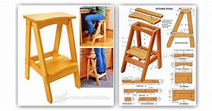 Kitchen Step Stool Plans • WoodArchivist