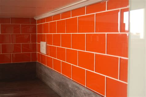 burnt orange kitchen tiles orange glass tiles ibizan sunset orange glass tiles 4999