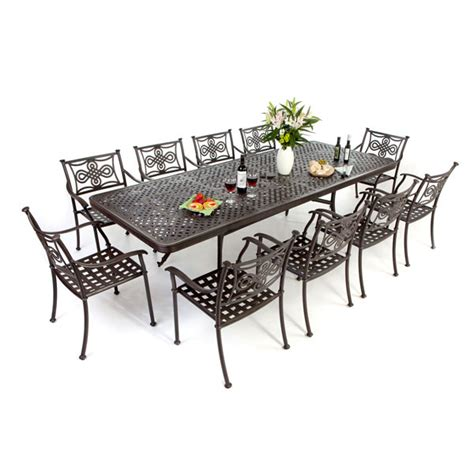 cast aluminium outdoor furniture sets dining tables and