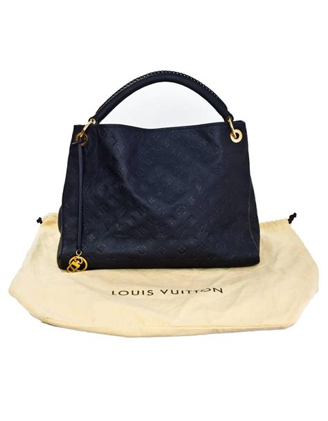 louis vuitton blue infini leather monogram empreinte artsy mm hobo tote bag  sale  stdibs