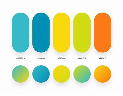 Gradient Palettes Corresponding Palette Yellow Orange Colour