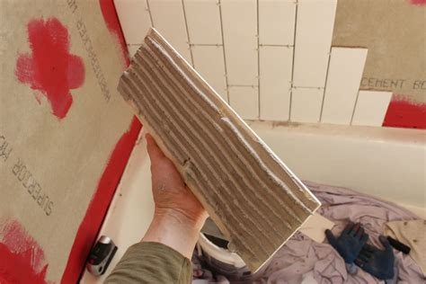 best tub surround material how to tile a shower tub surround part 1 laying the tile