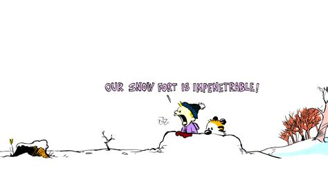 Calvin And Hobbes Spring Wallpaper Drunk Tiki Blog Archive Our Snow Fort Is Impenetrable Png