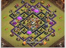 War Base Clash of Clans Th 8 Anti Naga dan Hog Rider