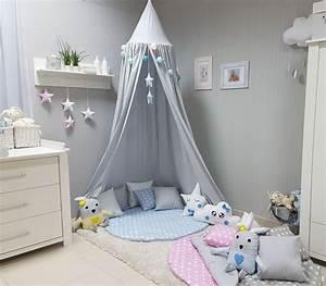 Baldachin Für Kinderbett : babymajawelt betthimmel baldachin grau xxl stars ~ Michelbontemps.com Haus und Dekorationen