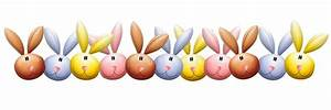 Easter Bunny Rabbit Heads Border Stock Illustration ...