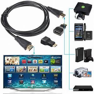 3 In1 Hdmi To Hdmi Mini Hdmi Micro Hdmi Cable For Xbox 360