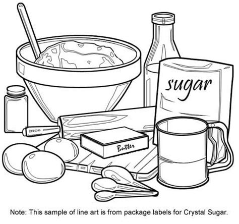 utensils clipart coloring page frames illustrations