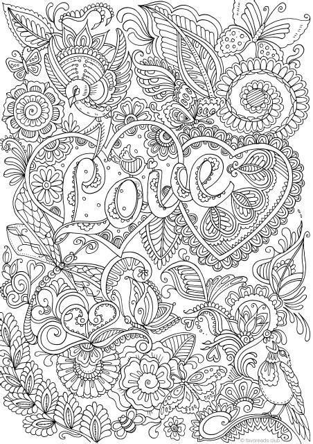 love  details printable adult coloring page