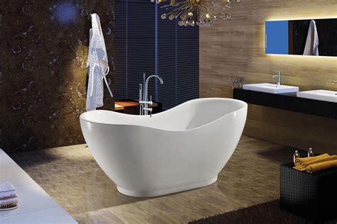 Bath Tub Set by White Acrylic Freestanding Soaking Shower Bathroom Bath