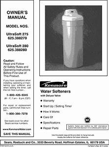 Kenmore 625388280 User Manual Water Softener Manuals And