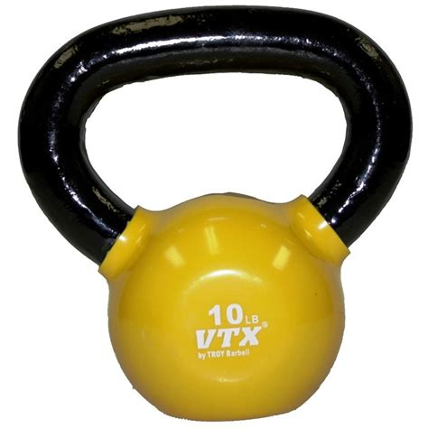 yellow lbs kettlebell bell weight vinyl lb dipped vtx kettle gym professional quality