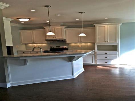 Kitchen With Angled Peninsula, Angled Kitchen Island White
