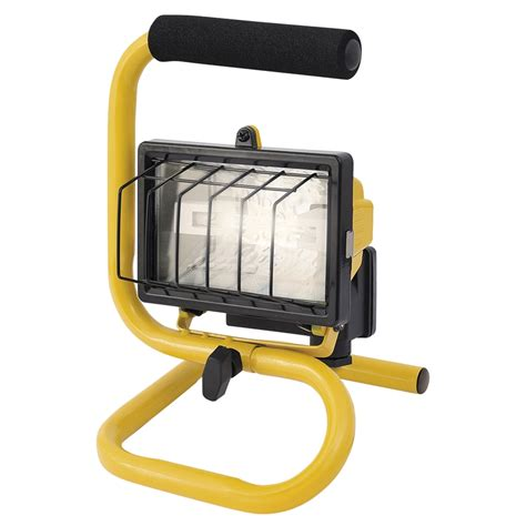 portable halogen work light arlec portable halogen worklight 150w bunnings warehouse